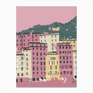 Camogli Italy Coast Canvas Print