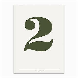 2 Bodoni Canvas Print