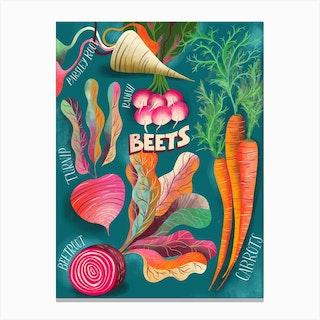 Beets Chart Canvas Print