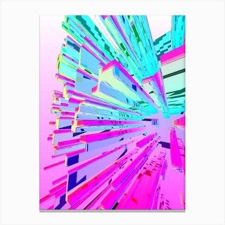 Crystal Candy Stix Canvas Print