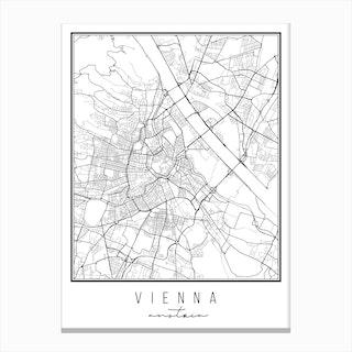Vienna Austria Street Map Canvas Print