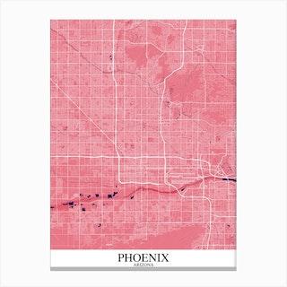 Phoenix Arizona Pink Purple Canvas Print