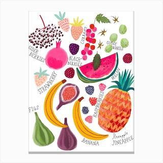 Fruits Chart Canvas Print