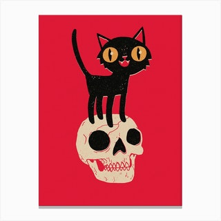 Look What The Cat Dragged In Canvas Print