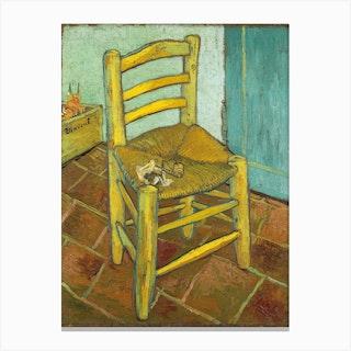 Van Goghs Chair, Vincent van Gogh Canvas Print