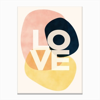 Shapes Of Love Canvas Print