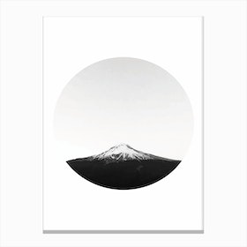 Mountain in a Circle Canvas Print