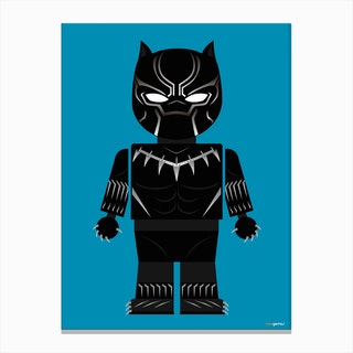 Toy Black Panther Canvas Print