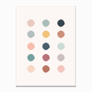 Colour Palette Canvas Print