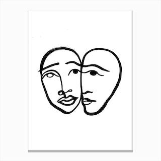 Faces 1 Canvas Print