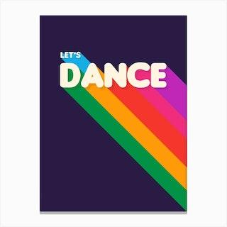 Let S Dance Canvas Print