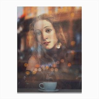 Venus At The Cafe Canvas Print