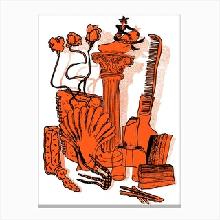 Orange Still Life Canvas Print