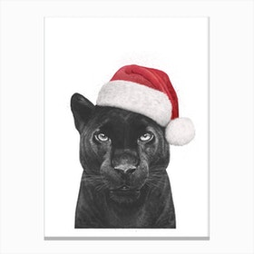 Christmas Panther Boy Canvas Print