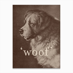 Famous Quotes Dog Canvas Print