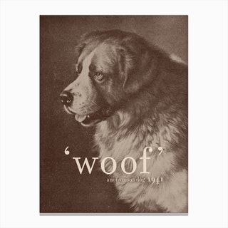 Famous Quotes Dog Canvas Print