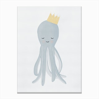 Cute Octopus Illustration Canvas Print
