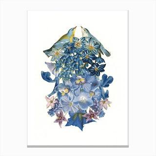 Summer Lovebirds Canvas Print