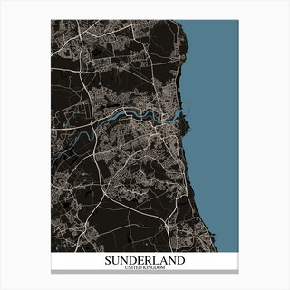 Sunderland Black Blue Canvas Print