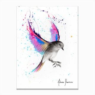September Sunset Bird Canvas Print