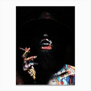 Pop Art In The Shadows Canvas Print