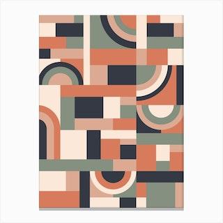 Earth Tones Blocks Canvas Print