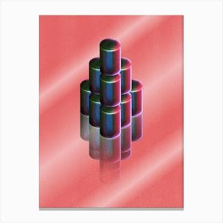 Cylinder Pile Pink Canvas Print