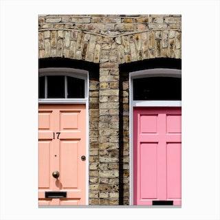 Pastel Doors Canvas Print