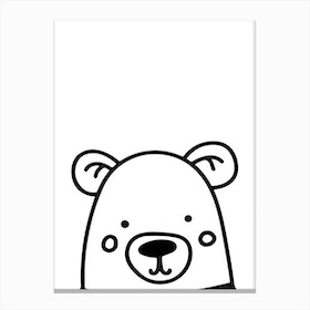Black and White Bear Canvas Print
