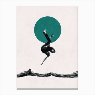 Falling With Style Canvas Print