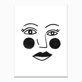 Ronda Face Canvas Print