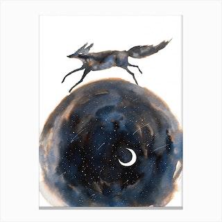Cosmic Wolf Canvas Print