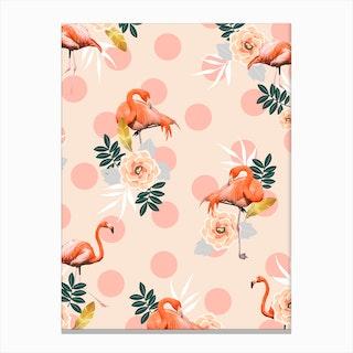Flamingo Jazz In Canvas Print