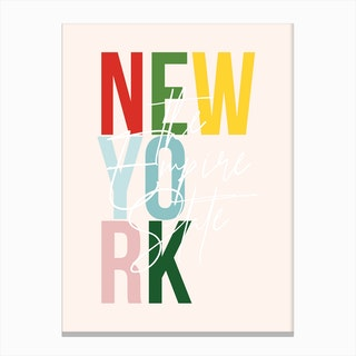 New York The Empire State Color Canvas Print