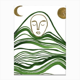 Sleeping Mountain 1 Canvas Print