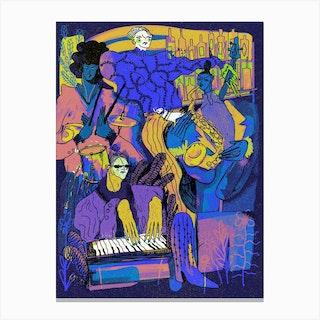 Quartet Midnight Canvas Print