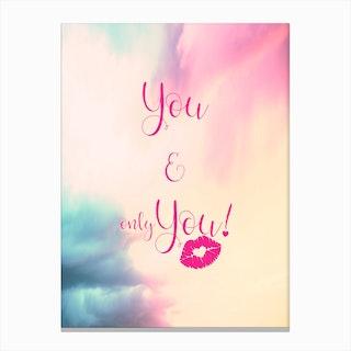 You & You {}   Vertical Canvas Print