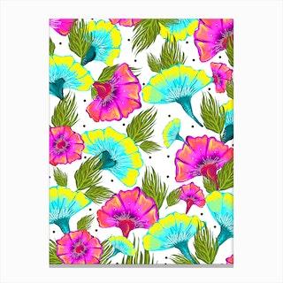 Ecstatic Floral Canvas Print