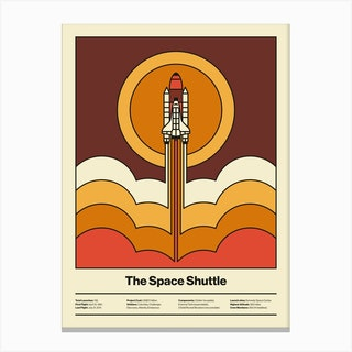 Space Launch Canvas Print