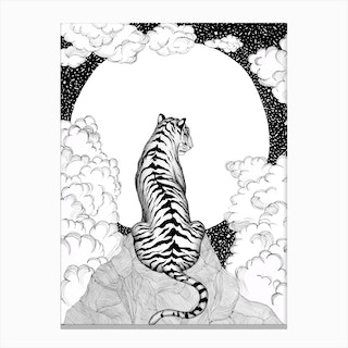 Tiger Moon Canvas Print