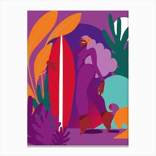 I Love Surfing Canvas Print