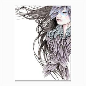 Raven Wings Canvas Print