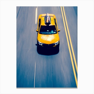 New York Yellow Cab Canvas Print