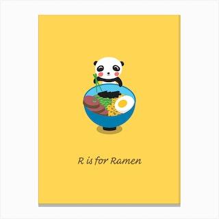 Ramen Panda Canvas Print
