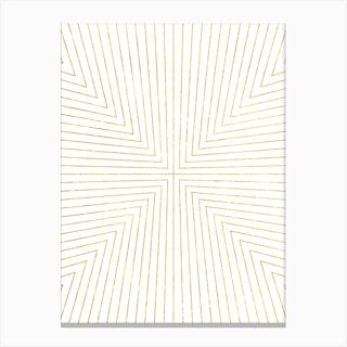 Converge Light Gold Canvas Print