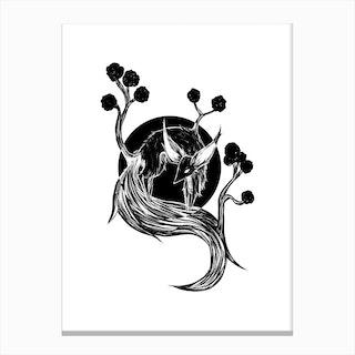 Fennec Tree Canvas Print