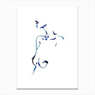 Blue Woman IV Canvas Print