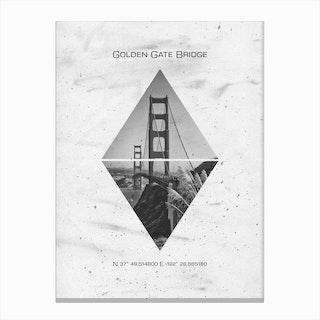 San Francisco Golden Gate Bridge Coordinates Canvas Print
