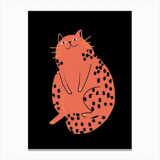 Relax Red Cat Canvas Print