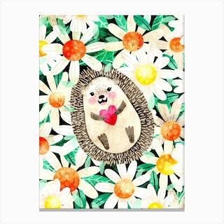 Happy Hedgie Canvas Print